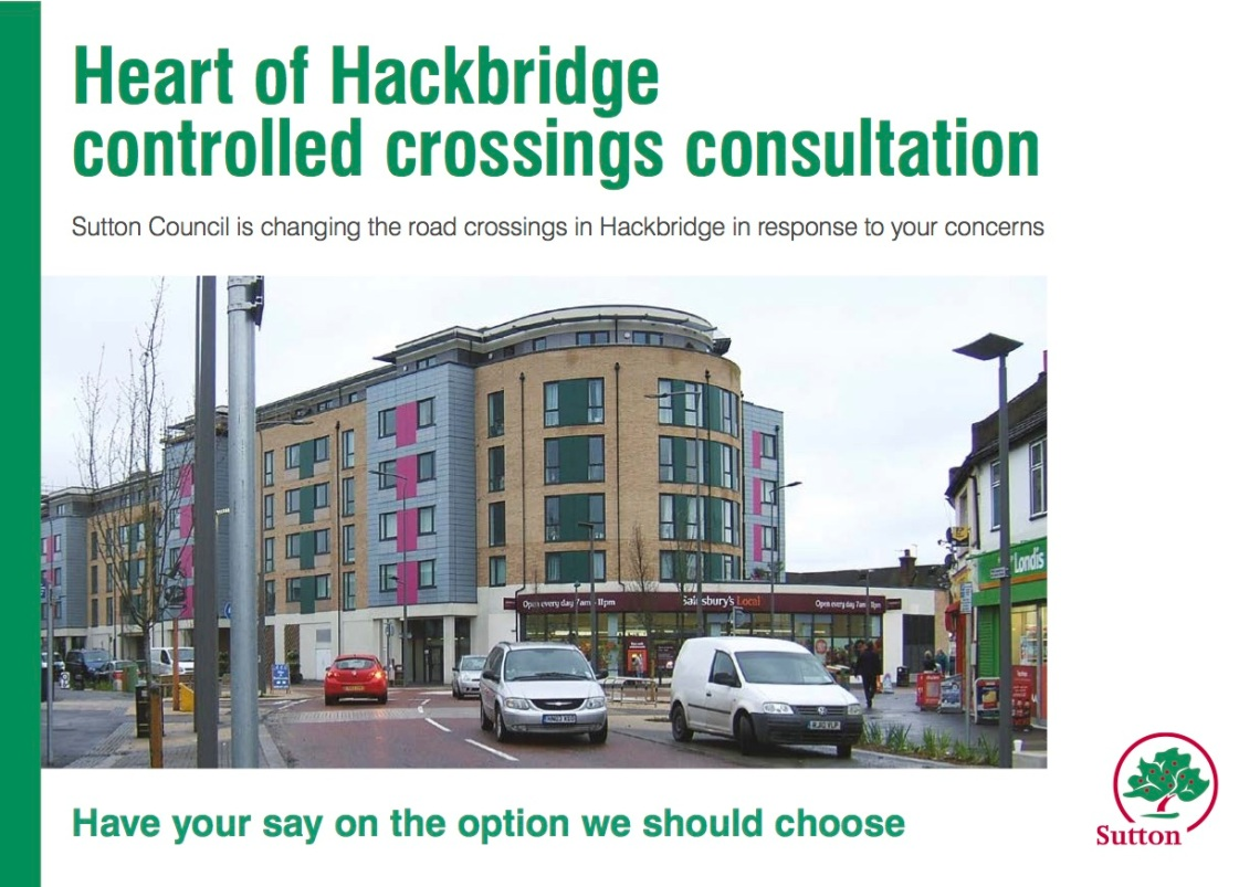 Hackbridge Road Crossing Leaflet