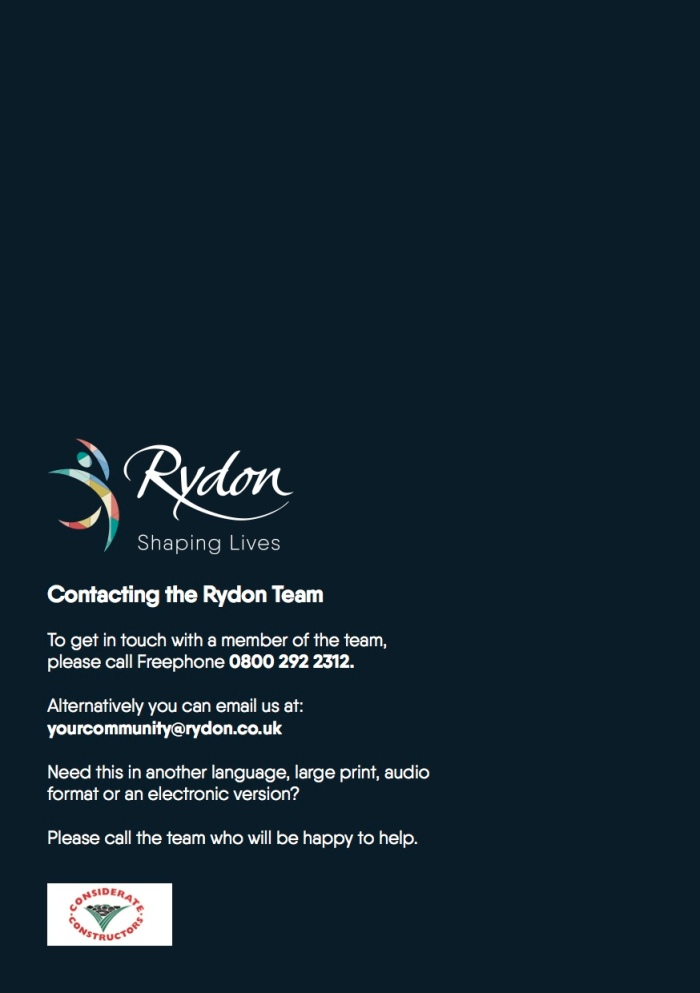 Rydon contact details - May 2017 update