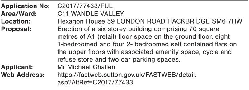 Hexagon House planning notice