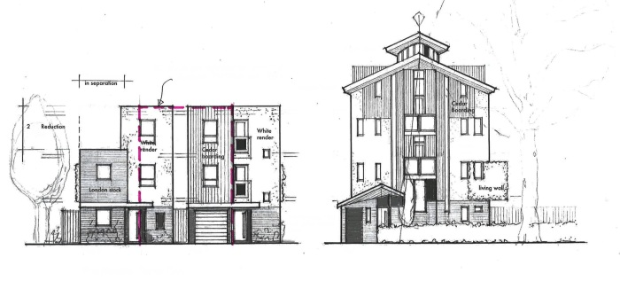 drawing showing existing permission