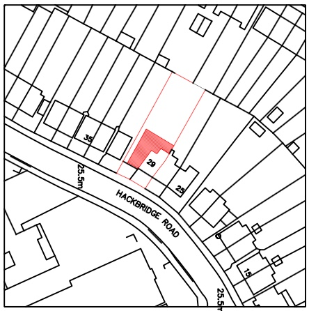 29 Hackbridge Road site map